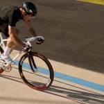 Giro Air Attack bike helmet tested at Velodrome