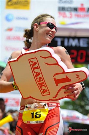 Caroline Steffen wins Ironman 70.3 Philippines 2012 ironman.com