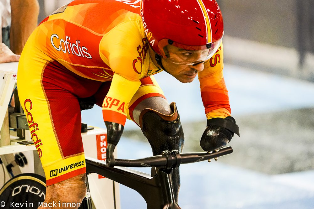 Spain's Ricardo Ten Argiles competes at the 2020 UCI Para Cycling Track World Championship. Photo: Kevin Mackinnon